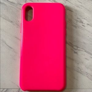 Bright Pink iPhone X/XS Phone Case